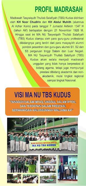 PPDB MA NU TBS Kudus Tahun Pelajaran 2020/2021