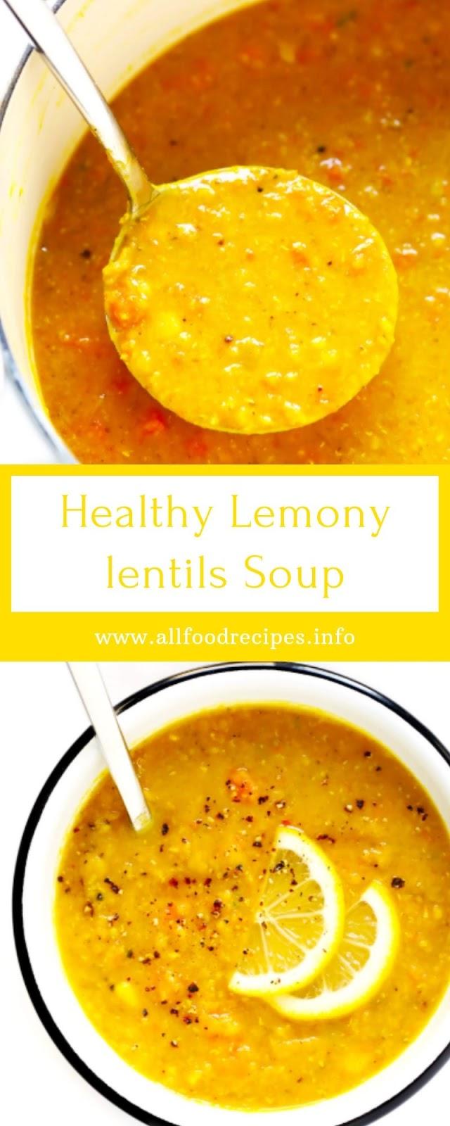 Healthy Lemony lentils Soup