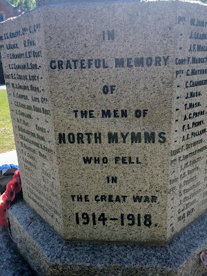 Photograph of the memorial to 'those who fell' in the 1914 - 1918 war. Image by the North Mymms History Project released under Creative Commons