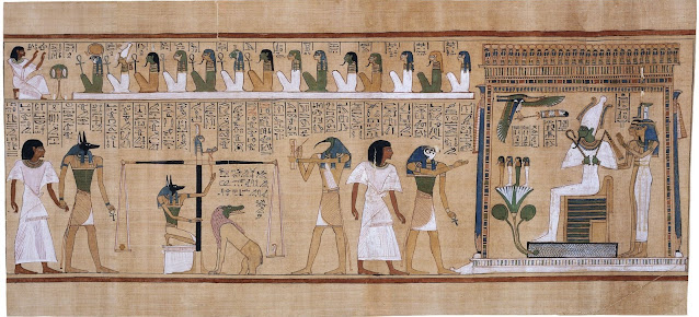 The Judment of the Dead in Book of the Dead of Hunefer