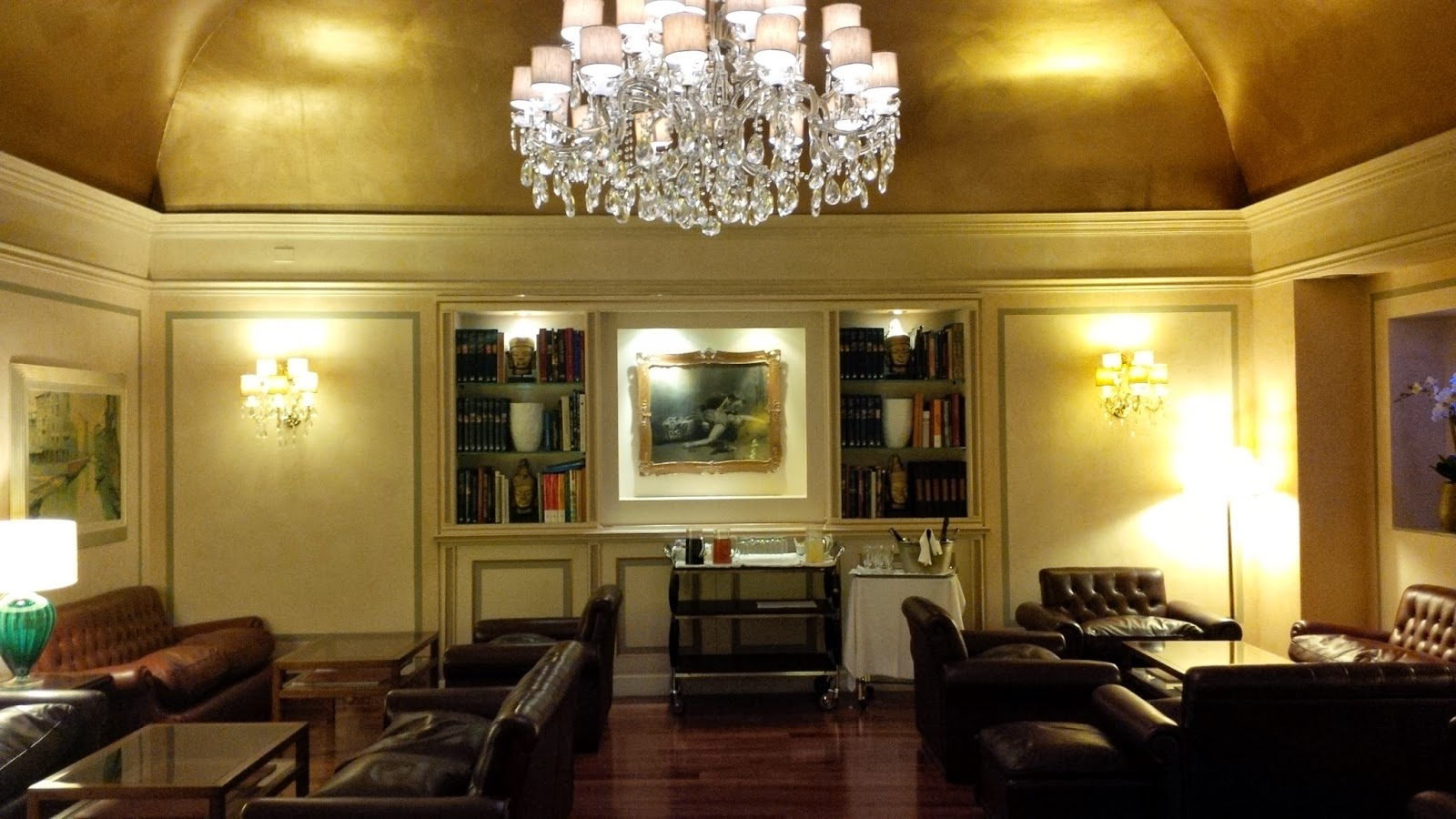 The sumptuous lobby of Hotel Accademia in Verona