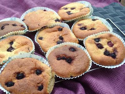 LCHF blåbærmuffins uden mel og sukker
