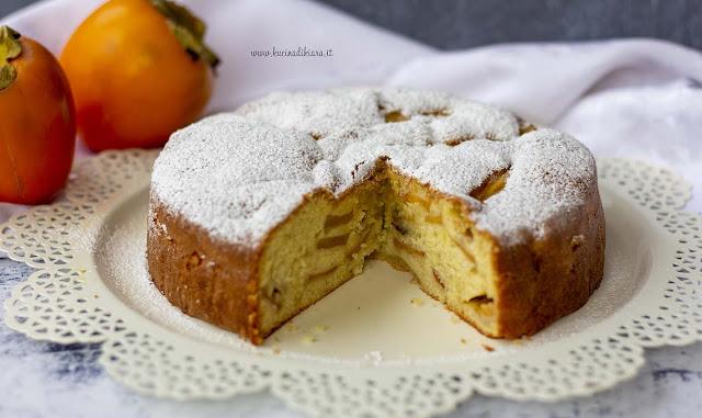 Torta morbida e soffice di caco mela