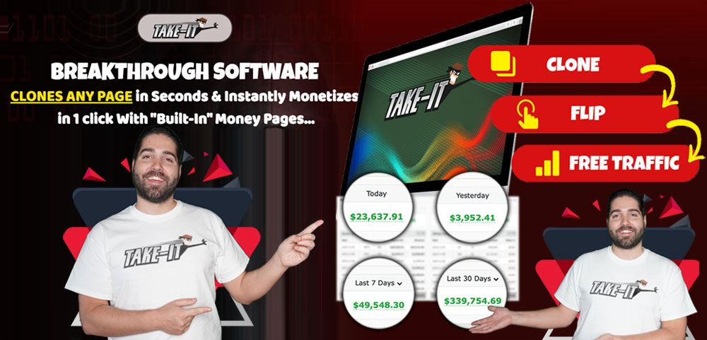 Take-It CLONES ANY PAGE in Seconds & Instantly Monetizes