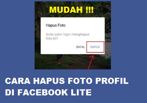 Cara Menghapus Foto Profil di Facebook Lite