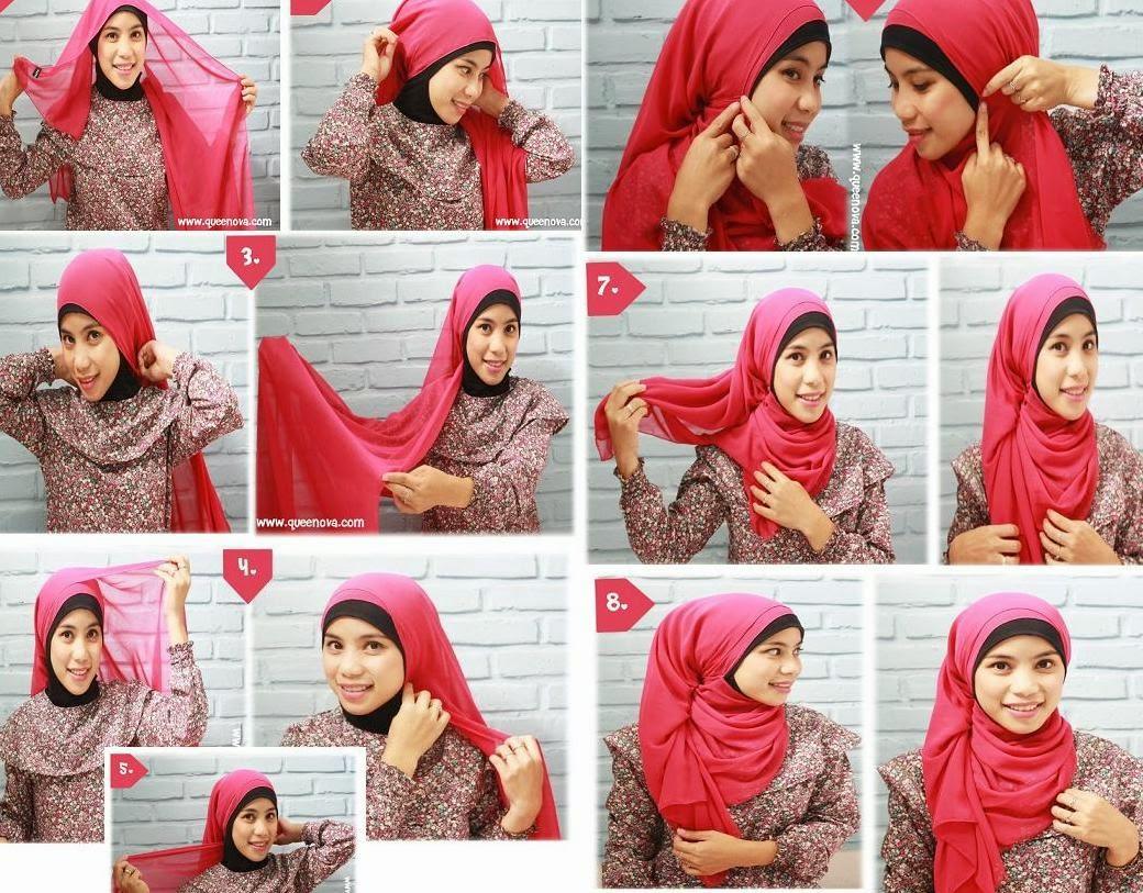 Hijab Tutorial Cara Memakai Jilbab Paris Segi Empat Square