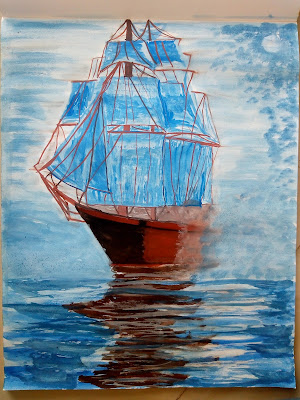 Ship painting image