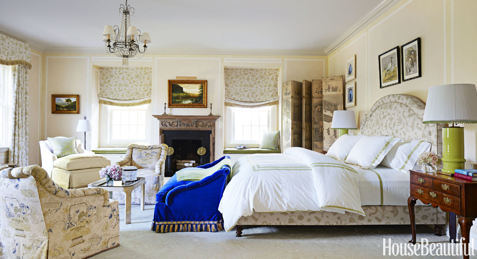 Hydrangea hill cottage east meets west in long island home for Beautiful bed room