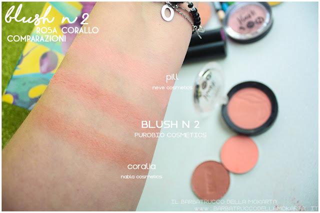 blush rosa corallo  purobio recensione review comparazioni