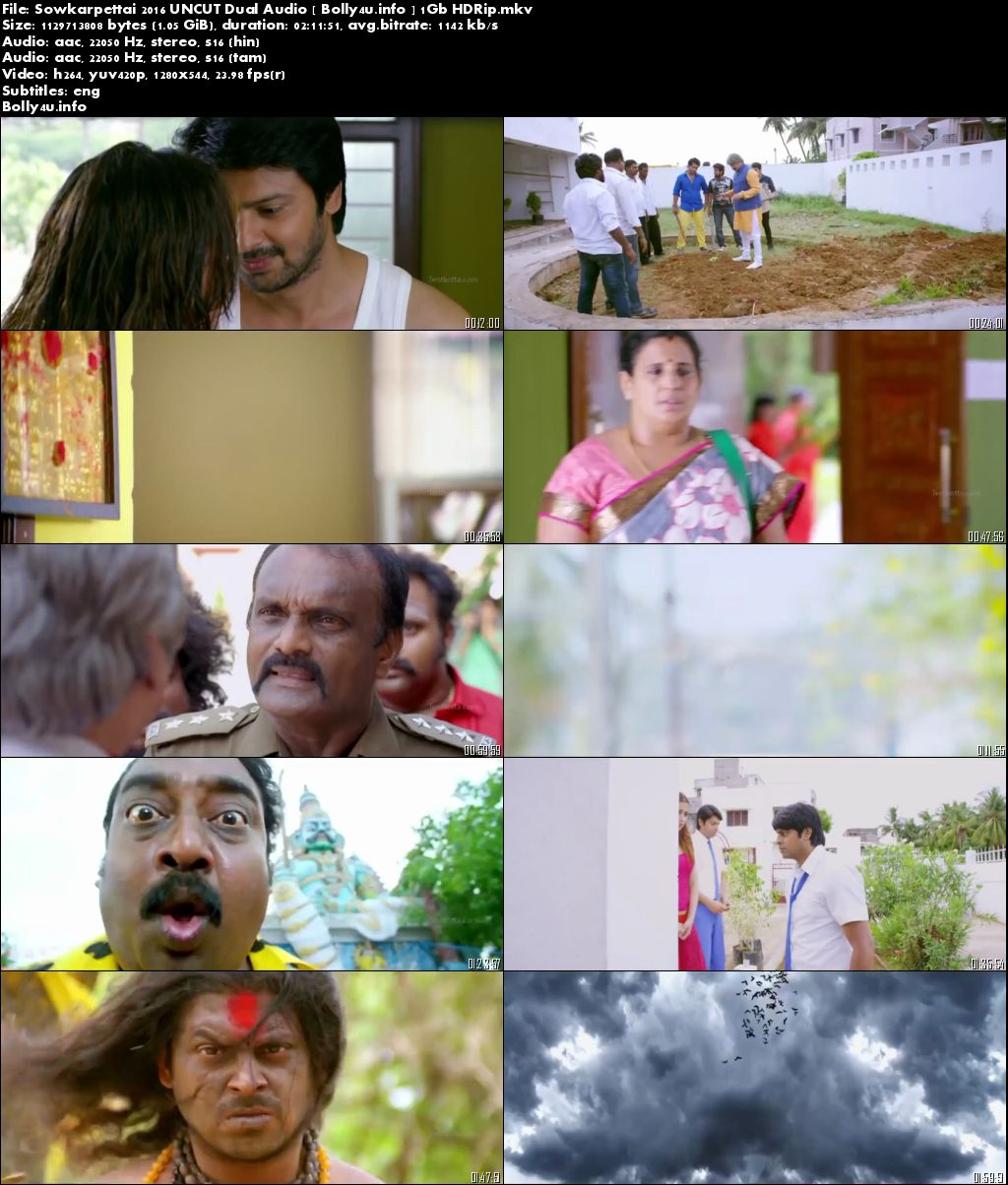 Screen Shoots of Sowkarpettai 2016 HDRip Download 400MB UNCUT Dual Audio 480p