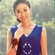 Vestido azul a Crochet