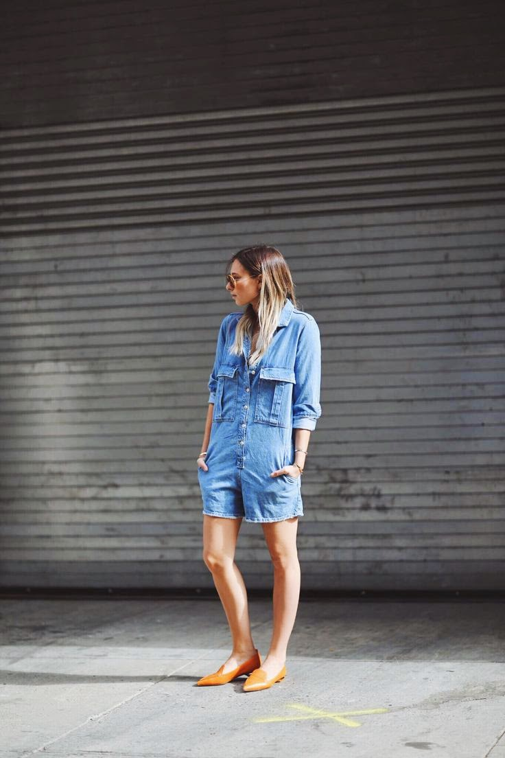 Danielle We Wore What Denim Playsuit