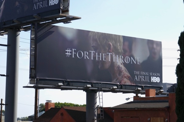 Game of Thrones final season Cersei Walk of Shame billboard