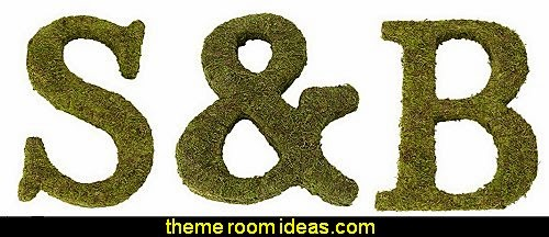 Unique moss monogram letter