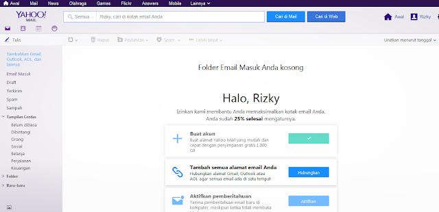 Tampilan Email di Yahoo Mail