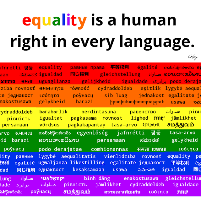 Equality is a human right (in english)