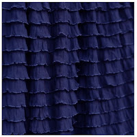 Navy Blue Ruffle Shower Curtain