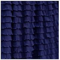 Navy Blue Ruffle Shower Curtain