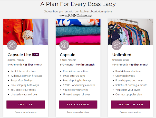 A Plan for Every Boss Lady. Choose How You Rent With Our Flexible Subscription Options. RMNOnline Fashion