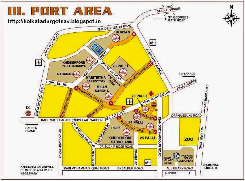 Port Area Map