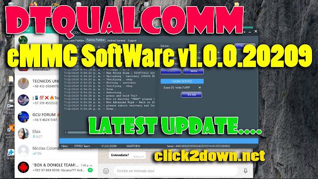 Download DTQUALCOMM eMMC SoftWare v1.0.0.20209 Latest version