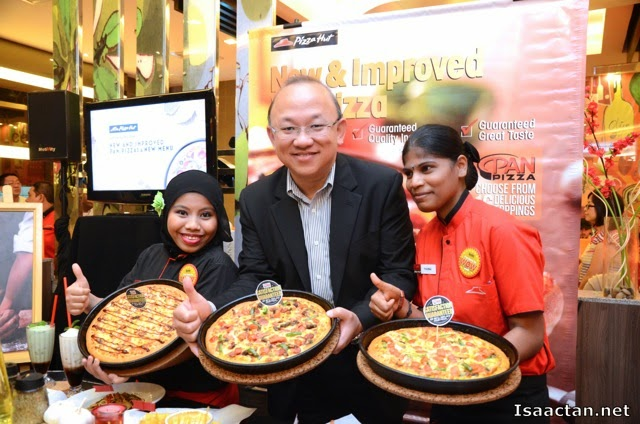 Mr Low Kang Moon introducing Pizza Hut's New and Improved Pan Pizza