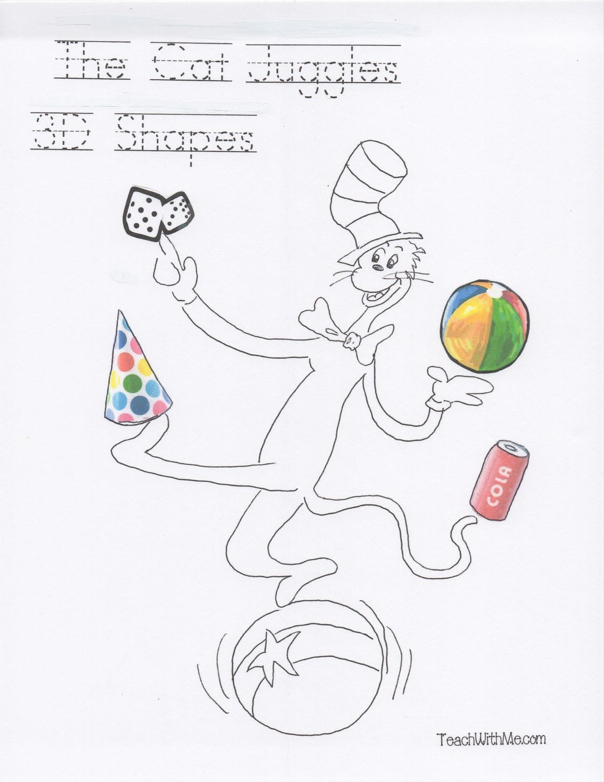 The Cat Juggles 3d Shapes