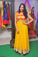 Pujitha in Yellow Ethnic Salawr Suit Stunning Beauty Darshakudu Movie actress Pujitha at a saree store Launch ~ Celebrities Galleries 020.jpg