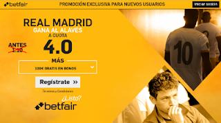 betfair supercuota 4 Real Madrid gana Alaves Liga 2 abril