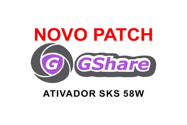 NOVA ATUALIZAÇÃO PATCH PARA LINHA GSHARE KEYS 58W - 16/09/2017