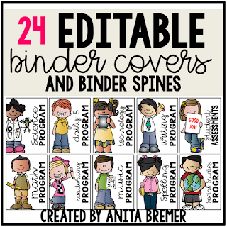 This pack includes 24 editable and 24 premade binder covers for your classroom. Perfect for giving your resource binders a cohesive look while keeping materials organized! #classroomsetup #classroom #backtoschool #teachereyecandy