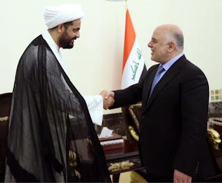 رئيس الوزراء حيدر العبادي يلتقي بقادة الحشد الشعبي و يؤكد ان الحشد باق وهو جزء مهم وساند للمنظومة الامنية العراقية