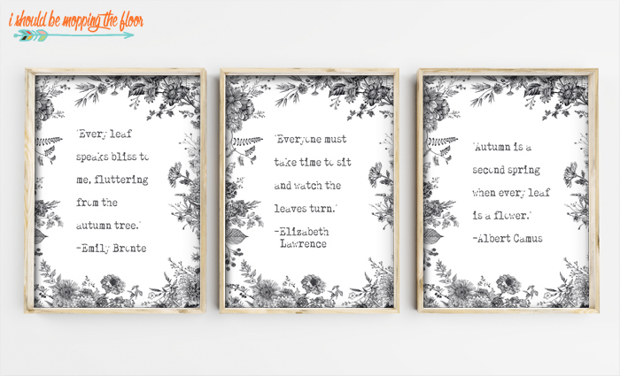 Free Black and White Printables for Autumn