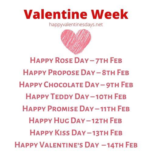 february-days-valentine-week-list-2021