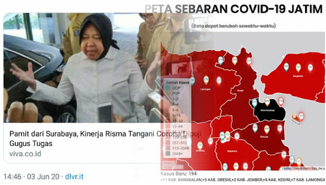 Penanganan Corona Dipuji, Tapi Kok Surabaya Masuk Zona Hitam?