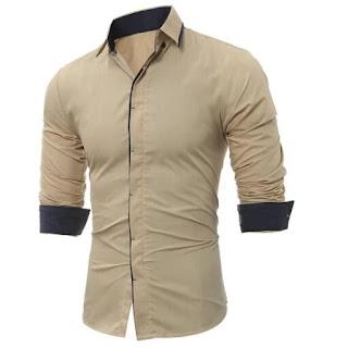 Men's Stylish Cotton Solid Full Sleeves Shirt