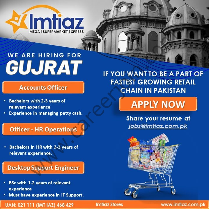 Imtiaz Super Market Jobs September 2021