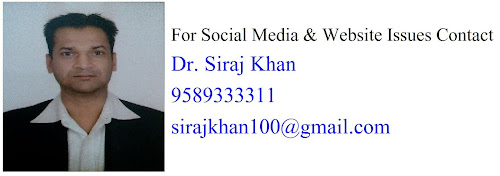 Dr Siraj Khan Contacts Details