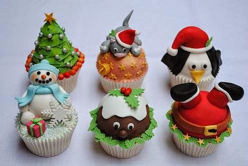 receitas de Cupcakes para o Natal