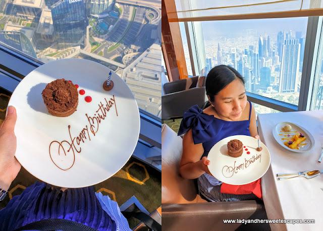 birthday in Atmosphere Burj Khalifa