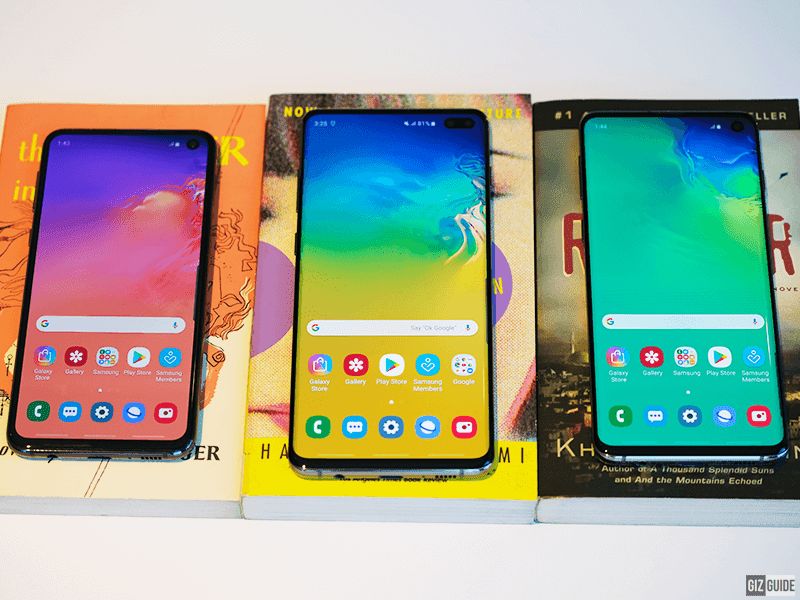 The S10e, S10 and S10+