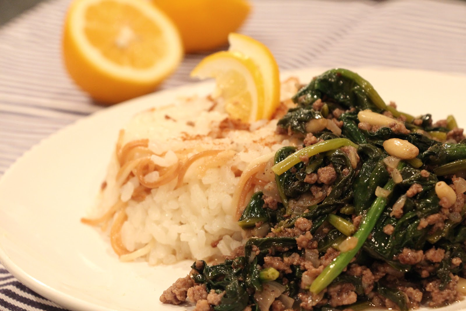 Lebanese Rice Spinach