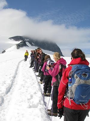 Group trip to Glacier Norway