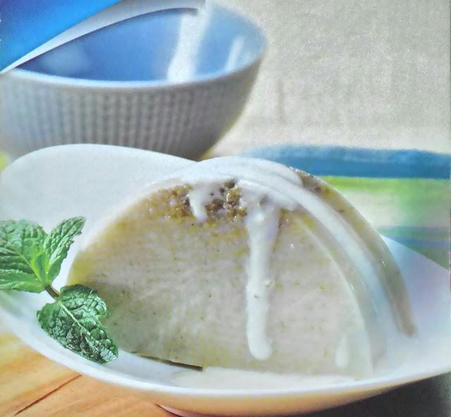 Resep Puding Kacang Hijau Saus Keju