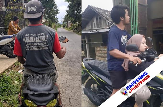 Kakaibang Upuan, Pinalagay ng Selosang Girlfriend sa Likod ng Motorsiklo ng Kanyang Nobyo