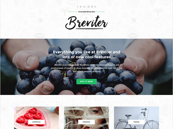 Download Breviter Creative Blog PSD Template Free