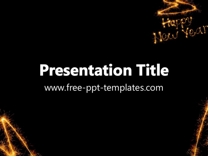 new year ppt template, Presentation templates
