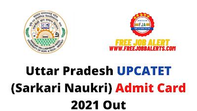 Sarkari Exam: Uttar Pradesh UPCATET (Sarkari Naukri) Admit Card 2021 Out