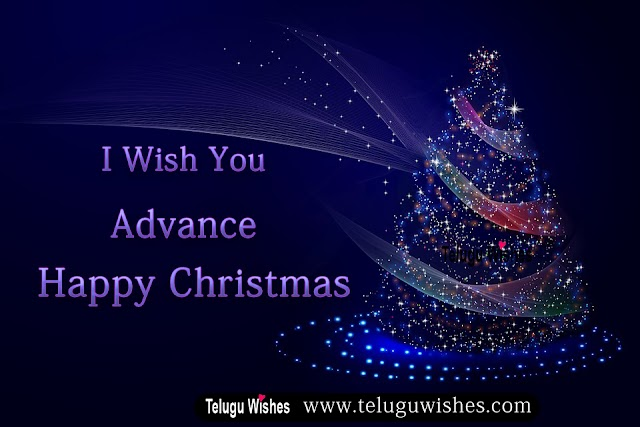 Advance Happy Christmas wishes Images in Telugu & English
