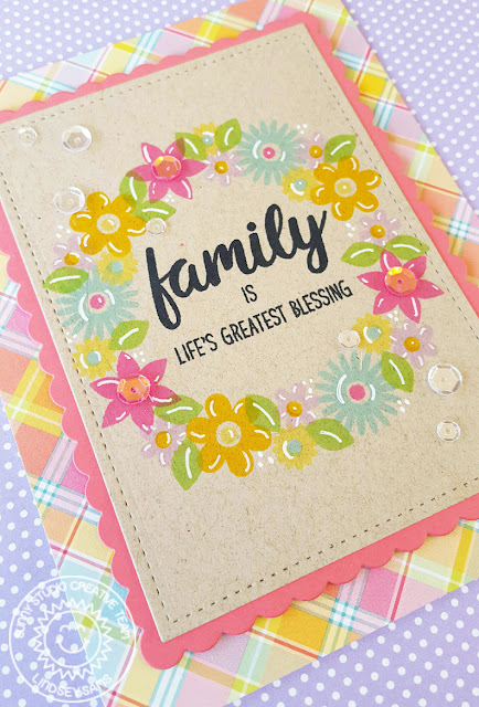 Sunny Studio Stamps: Friends and Family Flower Card by Lindsey Sams